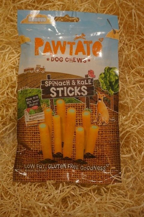 Vegetarian, Vegan & Gluten free Dog treats Pawtato Spinach & Kale Tubes